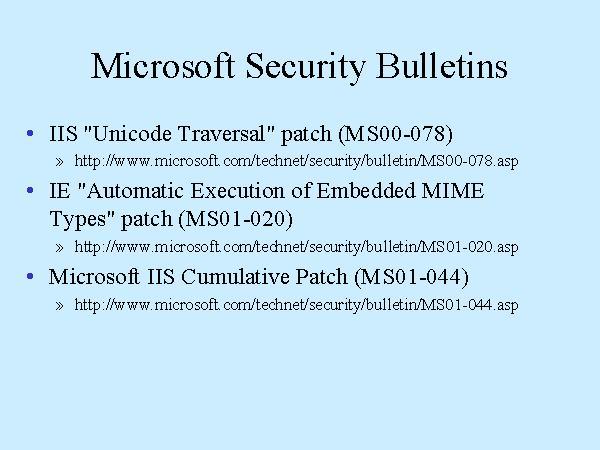 Microsoft Security Bulletins - microsoft bulletin