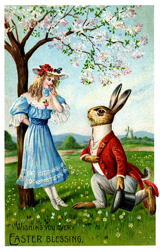 Cut Boy And Girl Wallpaper Vintage Easter Greeting Cards And Antique Graphics