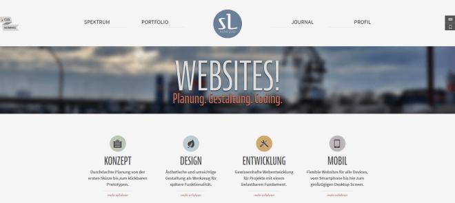 Eine sehr hochwertig und flexibel gestaltetes Webdesigner-Portfolio. Auch die responsive Umsetzung überzeugt.