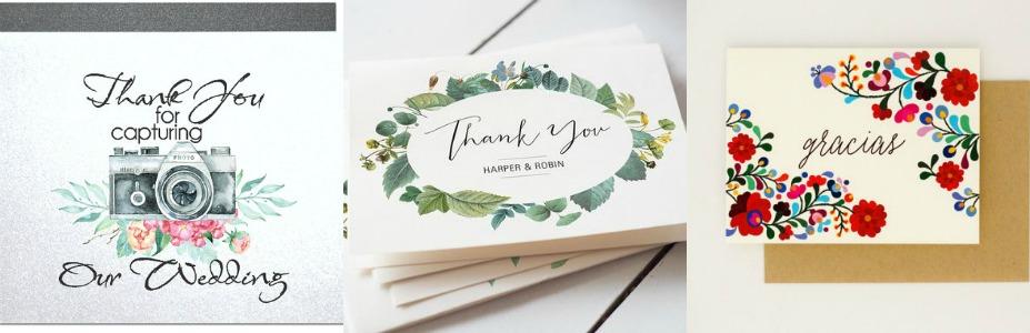 7 Wedding thank-you card ideas Wedded Wonderland