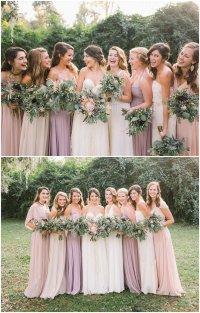 Blush Bridesmaid Dresses | Wedding Ideas By Colour | CHWV