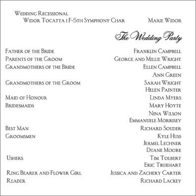 Shieldsu0027s blog This morning I showed off part I of this Idaho - wedding agenda sample