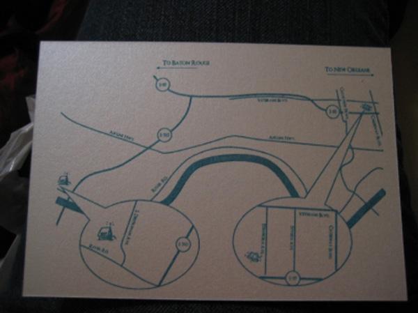 DIY Wedding Map Insert for Invitations