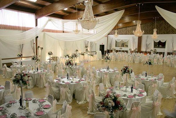 The King\u0027s Table - wedding reception setup with rectangular tables