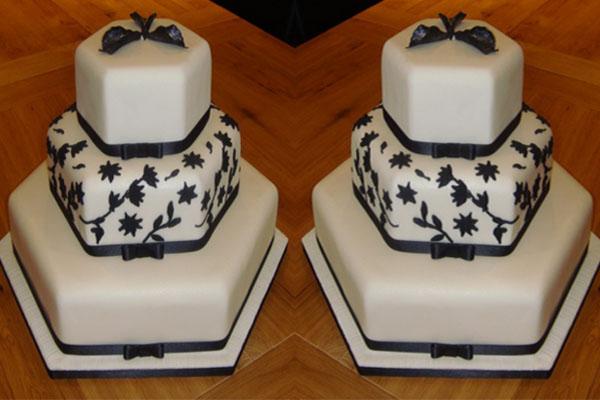 Hexagon shaped cake