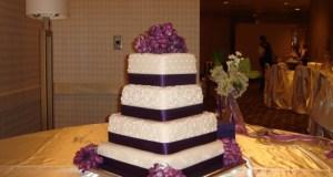 Rolled fondant wedding cakes