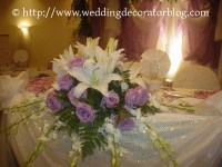 Flower arrangements for your sweetheart table