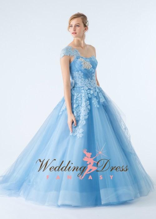 Medium Of Light Blue Wedding Dress