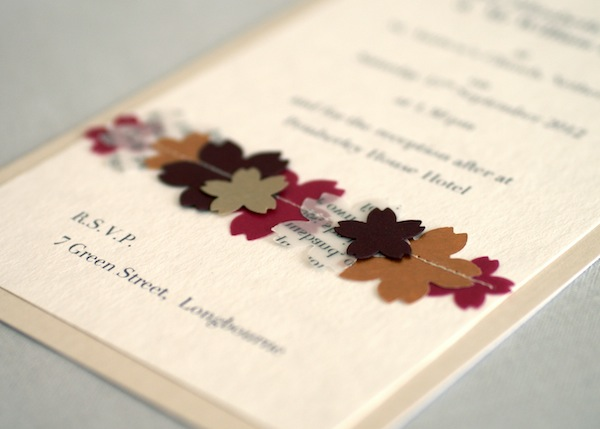 Handmade wedding invitations (by Vo Handmade via Emmaline Bride - formal handmade invitation cards