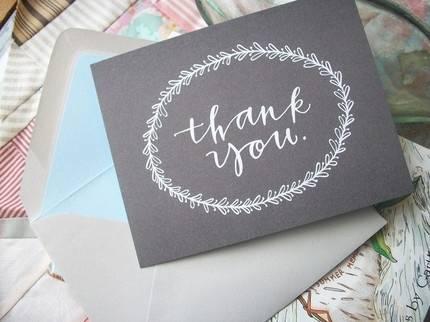 Wedding Shower Thank You Note Wording - Wedding Fanatic