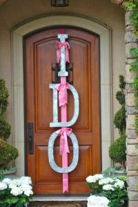 Wedding Shower Door Decor Ideas