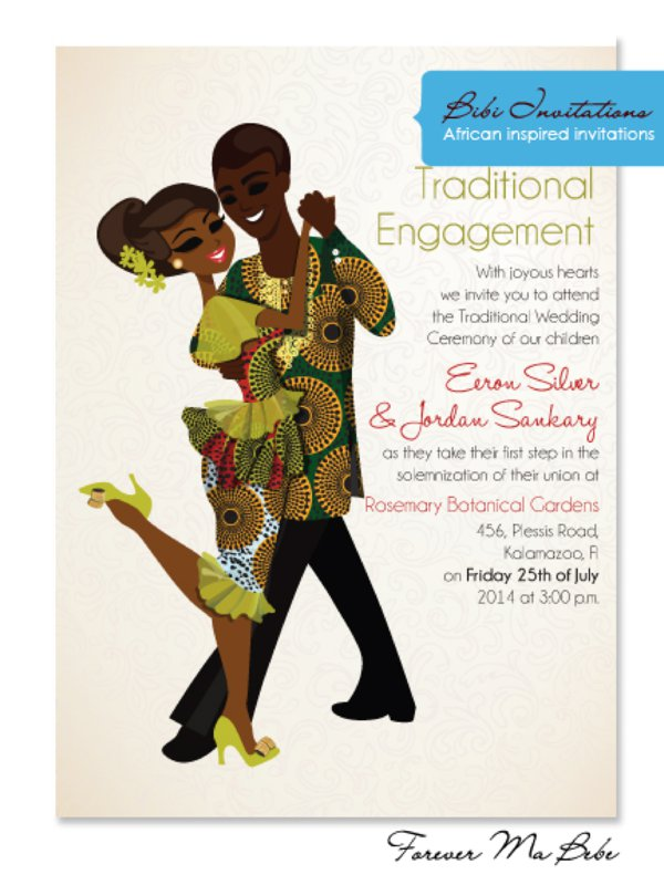 African Wedding Invitations Obamaletter