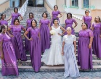 Purple Bridesmaids Dresses for Nigerian Weddings!