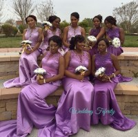 Purple Gold Bridesmaid Dresses | Wedding Gallery