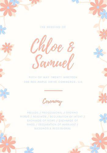 21 Printable Wedding Program Template Ideas Wedding Forward