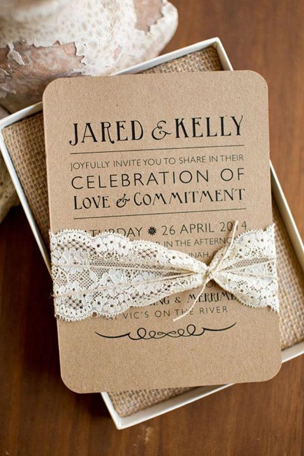 Top 15 popular rustic wedding invitaitons idea samples on Pinterest - rustic wedding invitation