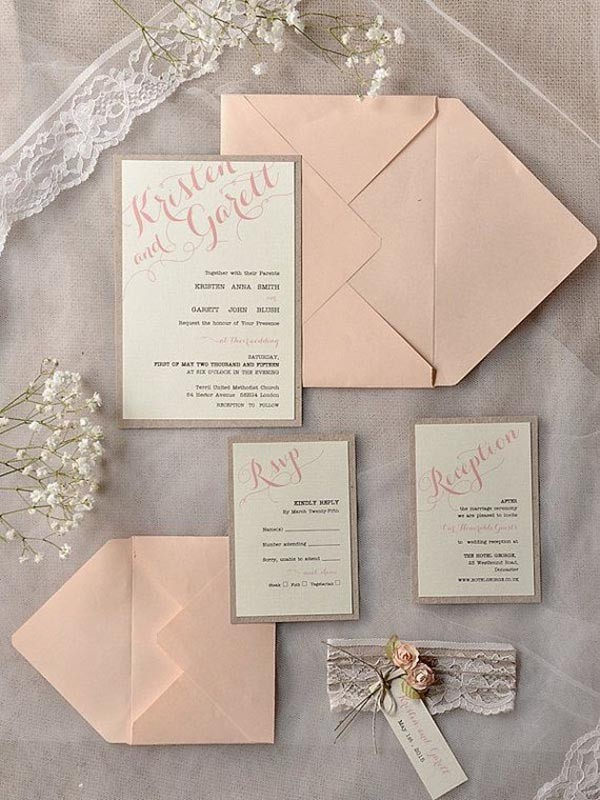 Top 15 popular rustic wedding invitaitons idea samples on Pinterest