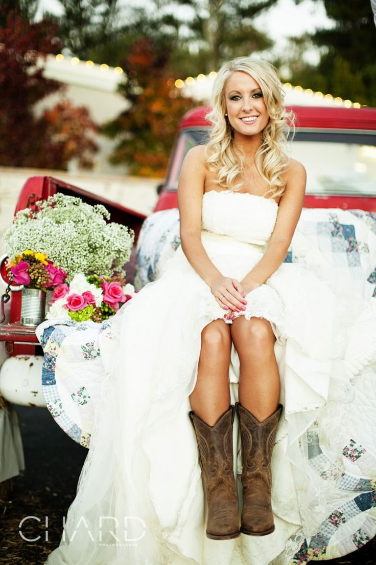 wedding guest dress with cowboy boots wedding cowboy boots Country Wedding Dresses Inspiration