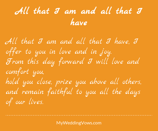 20 Traditional Wedding Vows Example Ideas You39ll Love