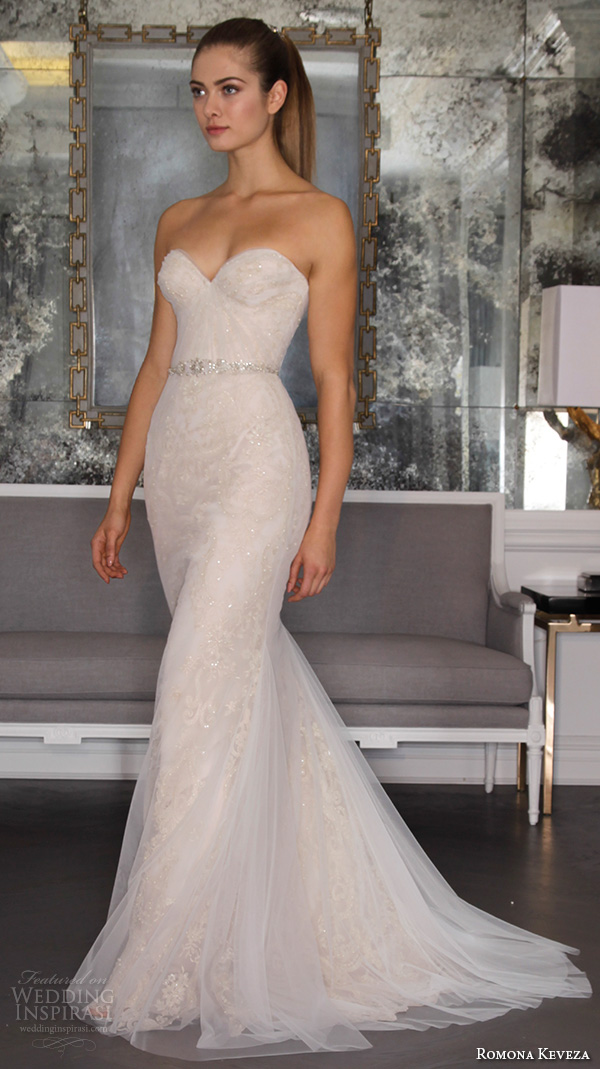 Romona keveza fall 2016 luxe bridal wedding dresses for Sweetheart neckline fit and flare wedding dress