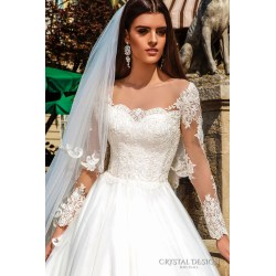 Small Crop Of Lace Sleeve Wedding Dress
