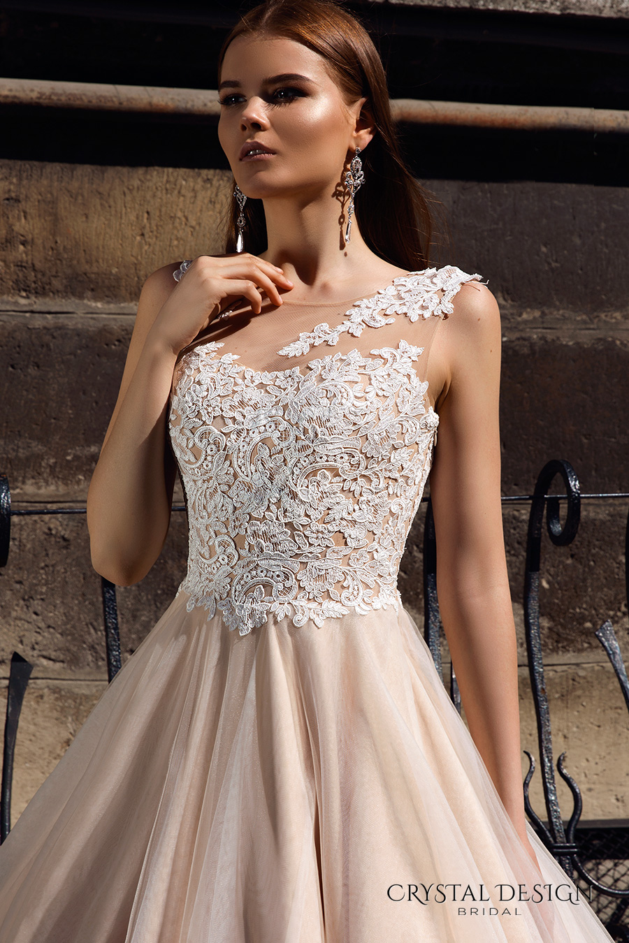 Bridal gowns with color wedding dresses with color White wedding gown with red roses on the dress