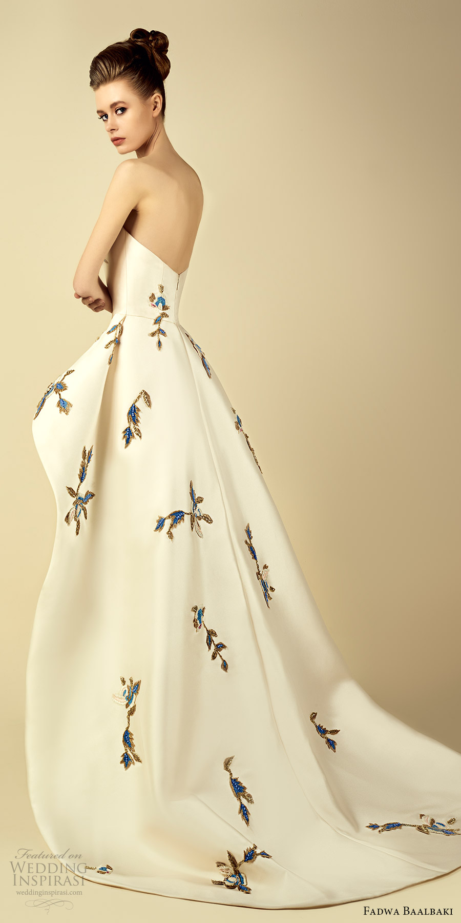 fadwa baalbaki spring 2017 couture strapless a line high low short dress (7) bv train