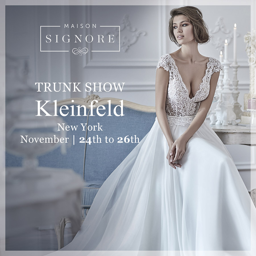 maison signore 2018 collections trunk show kleinfeld new york