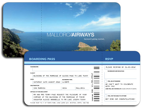 Flight Ticket Wedding Invitation Template Gallery - Template Design - plane ticket invitation template