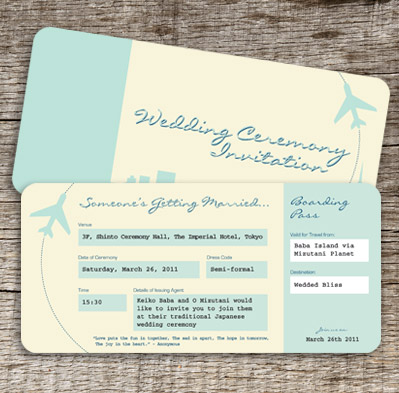 wedding invitations airline ticket style - 28 images - airline