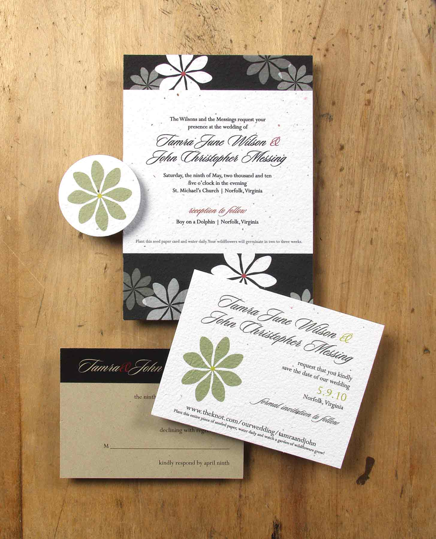 plantable invitations by bloomin plantable wedding invitations