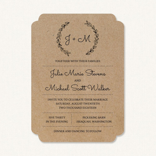 Rustic Wedding Invitations - Country Theme With Barn Wood, Florals, Jars