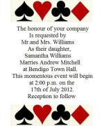 Vegas Wedding Invitation Wording