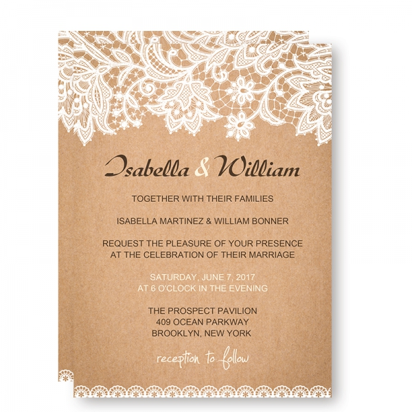 Chic Rustic Wedding Invitations with White Floral and Leaves, Fall