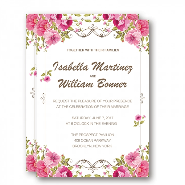 Cheap Fabulous Floral Rustic Wedding Invitation WIP032 - Wedding