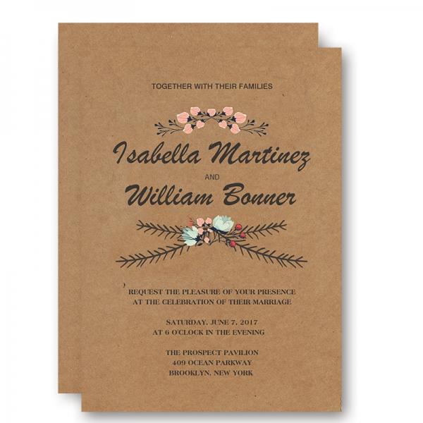 Cheap Rustic Floral Fall Wedding Invitation WIP043 - Wedding