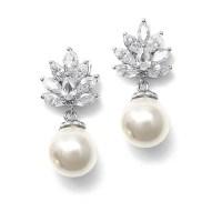 Pearl Bridal Earrings   Pearl Wedding Earring Brides ...