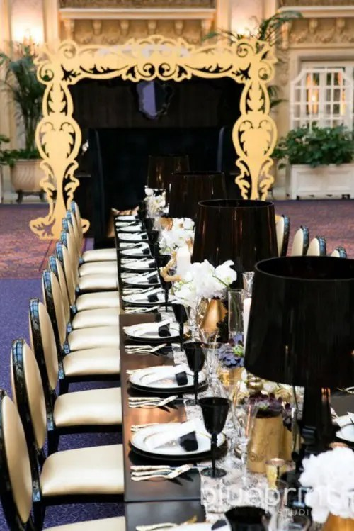 Great Ideas For An Elegant Black And Gold Wedding Color