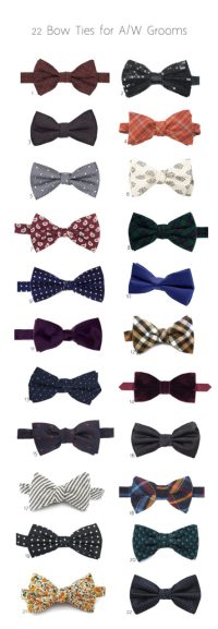 Autumn Winter Bow Ties for Grooms