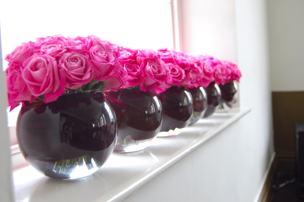wedding flowers pink and black - wedding flowers 2013 - pink black and white weddings