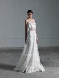 Romantic ethereal wedding dress with transparencies Vasia ...