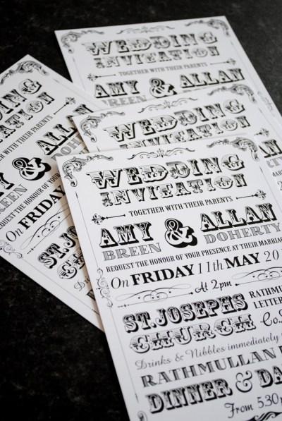 Vintage Festival Poster Wedding Invites | WEDFEST