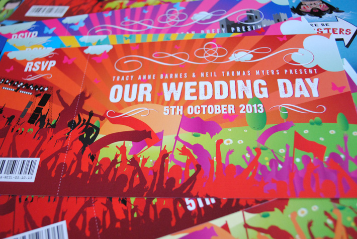 Concert Ticket Wedding Invites WEDFEST