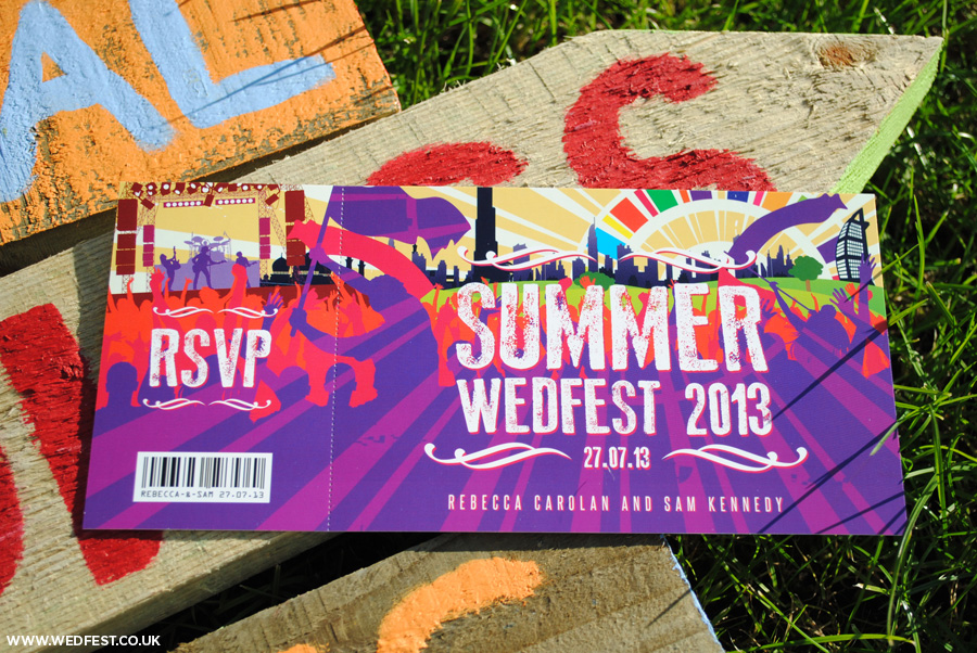 Summer Wedfest Dubai Themed Wedding Invites WEDFEST