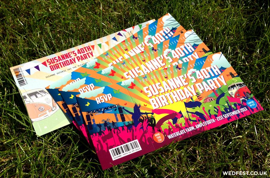 Festival Ticket Birthday Invites WEDFEST - party ticket invitations