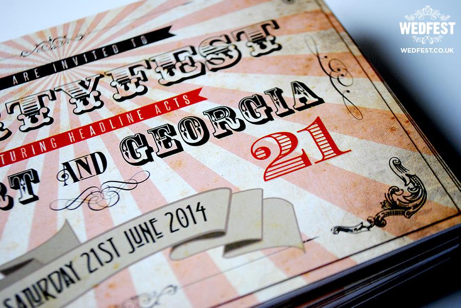 Vintage Ticket Birthday Party Invitations WEDFEST