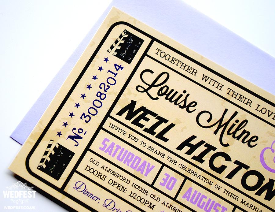 Movie Ticket Wedding Invitations WEDFEST - ticket invitation