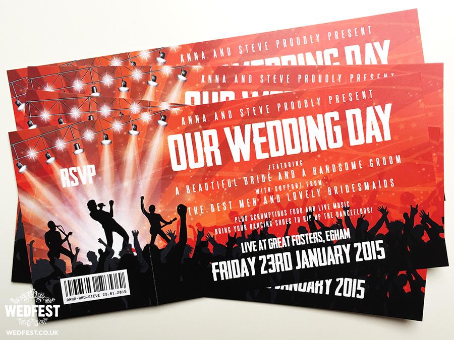 Concert Themed Wedding WEDFEST - concert tickets design
