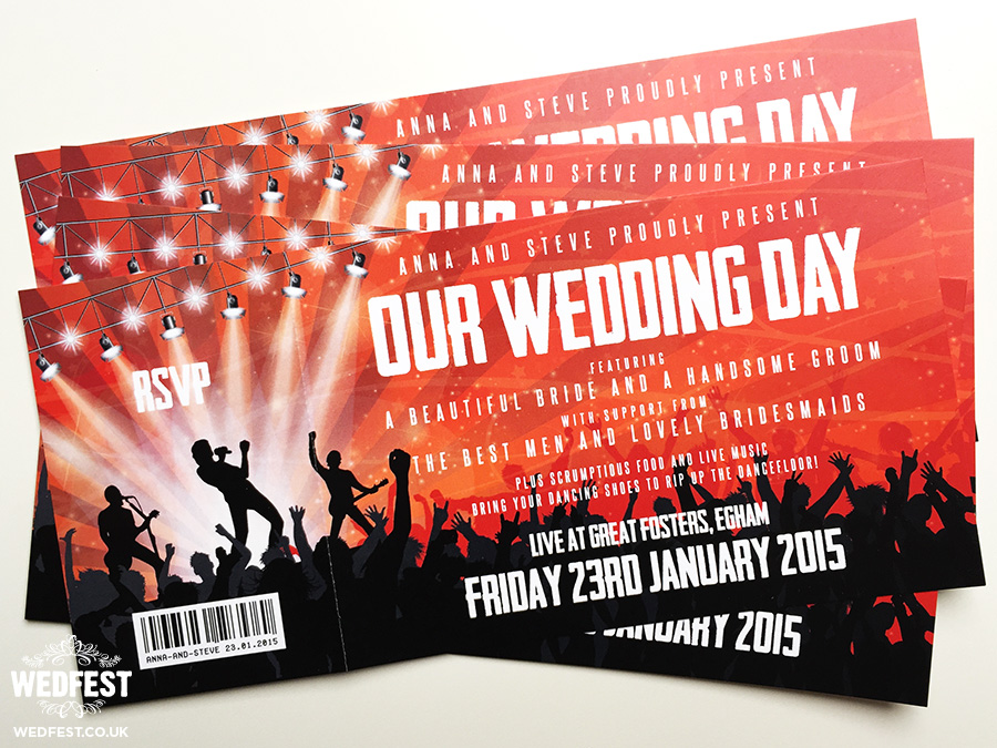 Concert Ticket Wedding Invitations WEDFEST