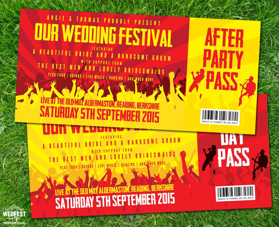 Concert Ticket Wedding Invitations WEDFEST - concert ticket invitations